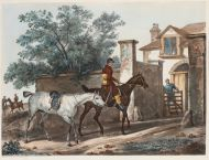 Ж.П.М.Жазе по оригиналу К.Верне Въезд в конюшню. Не ранее 1827 Акватинта, акварель.