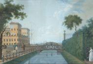 Неизвестный художник. Лебяжья канавка. 1800-е. Бумага, гуашь.