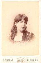 Портрет А.Д. Бугаевой. Фотография Р.Ю. Тиле. Москва. 1890-е