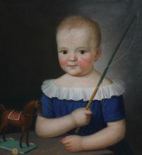 Портрет мальчика с лошадкой