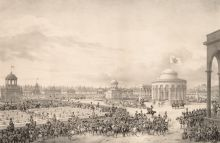 Праздничный обед на Девичьем поле в Москве, данный народу в честь коронации императора Николая I