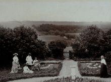 В имении Серебряный Колодезь. Вид с террасы дома