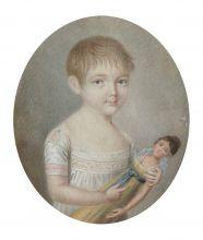 Портрет девочки с куклой (М.А. Протасовой?)