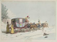 Катание в карете зимой