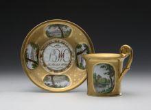 Чашка и блюдце с видами Павловска
