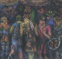 Екатерина Григорьева. Кондитерский киоск. 1984. Холст, масло. Собрание галереи «Ковчег»